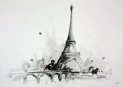 Eiffel Tower Sketch I by Anna Gammans -  sized 17x12 inches. Available from Whitewall Galleries